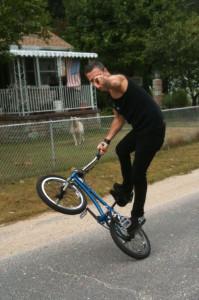 Brett doing a lawnwmover